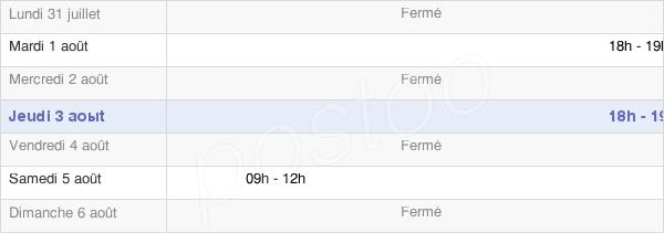 horaires d'ouverture de la Mairie D'Acy-Romance