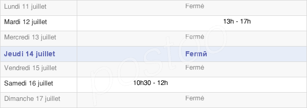 horaires d'ouverture de la Mairie De Sorcy-Bauthémont