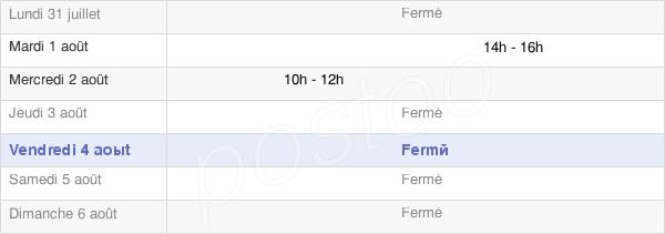 horaires d'ouverture de la Mairie De Ville-Sur-Retourne