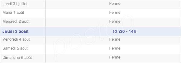 horaires d'ouverture de la Mairie De Liry