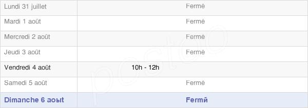 horaires d'ouverture de la Mairie D'Autruche