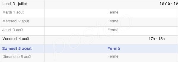 horaires d'ouverture de la Mairie D'Ablaincourt-Pressoir
