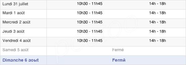 horaires d'ouverture de la Mairie De Boulzicourt