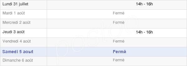 horaires d'ouverture de la Mairie Gomont