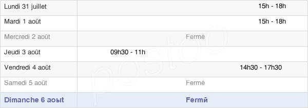 horaires d'ouverture de la Mairie De Bourg-Fidèle