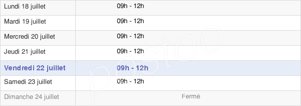 horaires d'ouverture de la Mairie D'Auvillers-Les-Forges