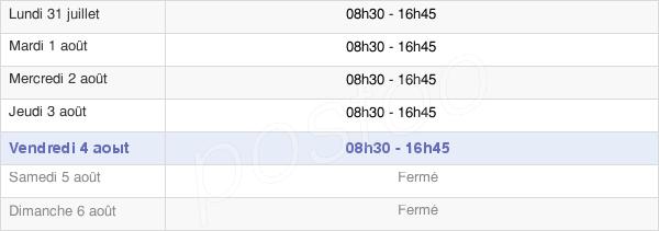 horaires d'ouverture de la Mairie De Loriol-Sur-Drôme