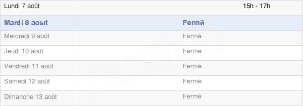 horaires d'ouverture de la Mairie De La Neuville-Lès-Wasigny