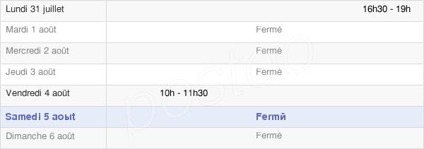 horaires d'ouverture de la Mairie De Suzanne