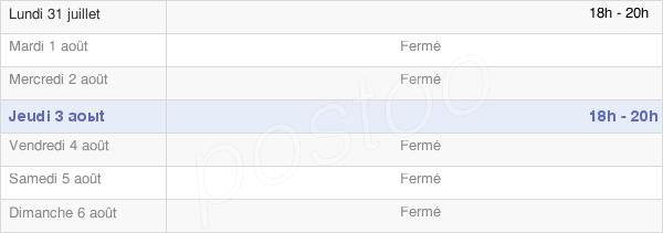 horaires d'ouverture de la Mairie De Fromy