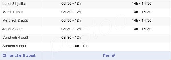 horaires d'ouverture de la Mairie De Crécy-En-Ponthieu