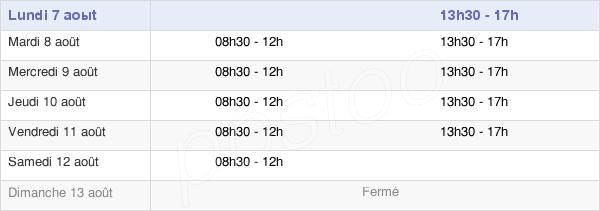 horaires d'ouverture de la Mairie De La Tour-Du-Pin