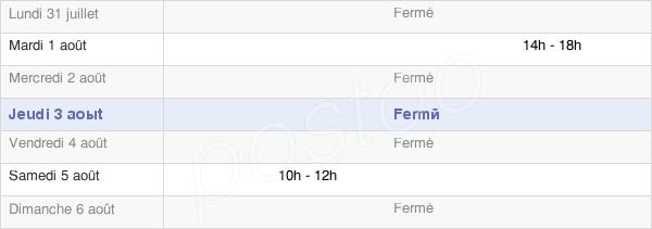 horaires d'ouverture de la Mairie Des Côtes-De-Corps