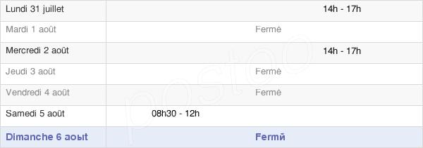 horaires d'ouverture de la Mairie De Salle En Beaumont