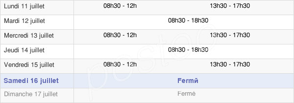 horaires d'ouverture de la Mairie De Meylan