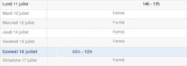 horaires d'ouverture de la Mairie De Quet-En-Beaumont