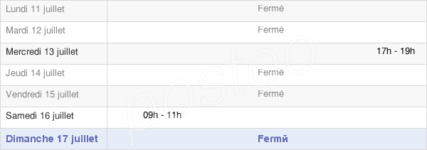 horaires d'ouverture de la Mairie De Baizieux