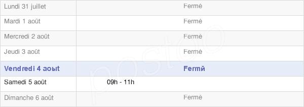 horaires d'ouverture de la Mairie De Surcamps