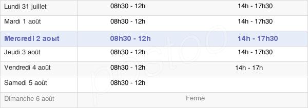 horaires d'ouverture de la Mairie De Pontcharra
