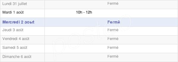 horaires d'ouverture de la Mairie De Beaufin