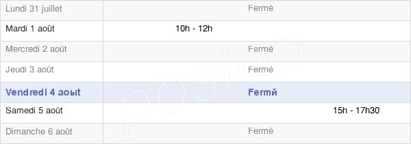 horaires d'ouverture de la Mairie D'Arry