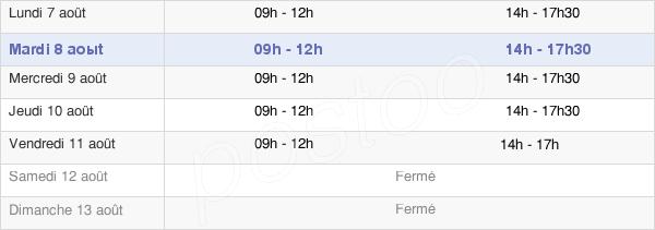 horaires d'ouverture de la Mairie De Bray-Sur-Somme