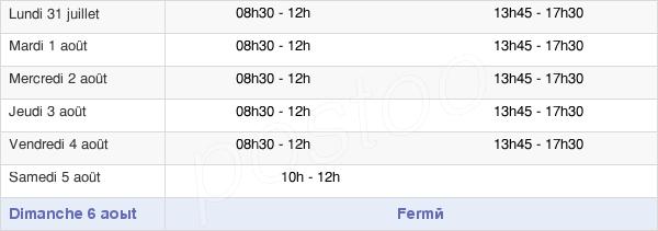 horaires d'ouverture de la Mairie De Longueau
