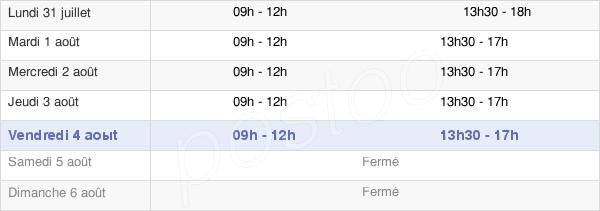 horaires d'ouverture de la Mairie De Fontaine