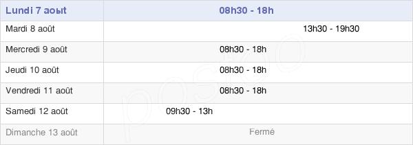 horaires d'ouverture de la Mairie De Noisy-Le-Sec