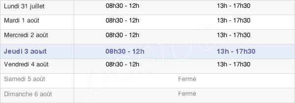 horaires d'ouverture de la Mairie De Bobigny