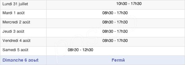 horaires d'ouverture de la Mairie De Clichy-Sous-Bois
