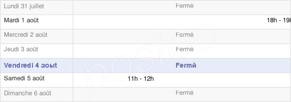 horaires d'ouverture de la Mairie De Hyencourt Le Grand