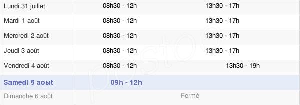 horaires d'ouverture de la Mairie De Villetaneuse