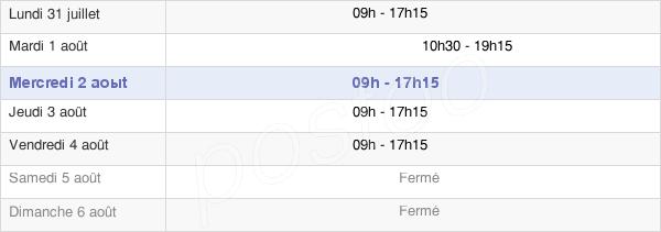 horaires d'ouverture de la Mairie De Bondy