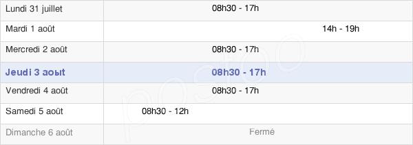 horaires d'ouverture de la Mairie De Montreuil