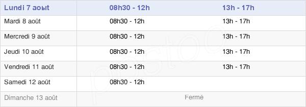 horaires d'ouverture de la Mairie De Tremblay-En-France