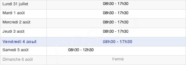 horaires d'ouverture de la Mairie De Pantin