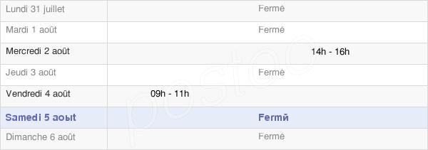 horaires d'ouverture de la Mairie De Béalcourt