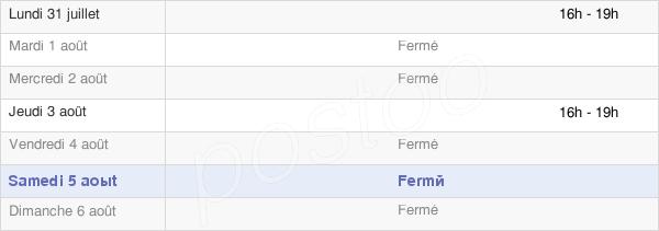 horaires d'ouverture de la Mairie De Neufmoulin