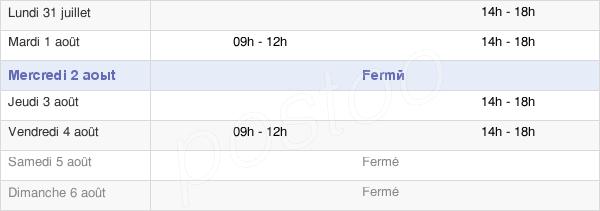 horaires d'ouverture de la Mairie De Claret