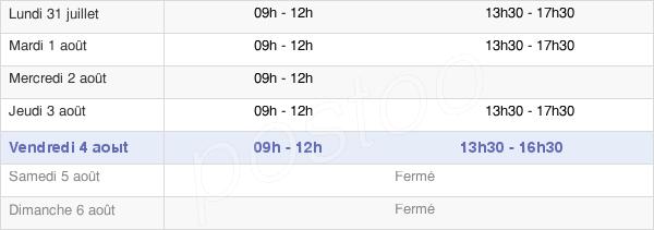 horaires d'ouverture de la Mairie De Berric