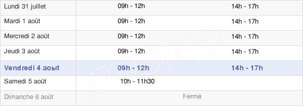 horaires d'ouverture de la Mairie D'Inguiniel