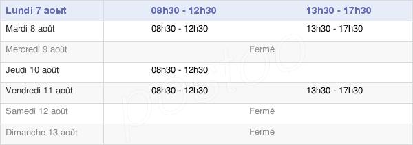 horaires d'ouverture de la Mairie De Saint-Gonnery