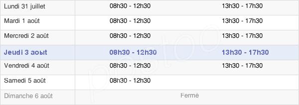 horaires d'ouverture de la Mairie D'Elven