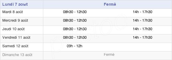 horaires d'ouverture de la Mairie De Ruffiac
