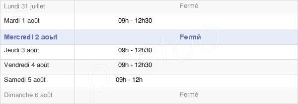 horaires d'ouverture de la Mairie De Saint-Nicolas-Du-Tertre