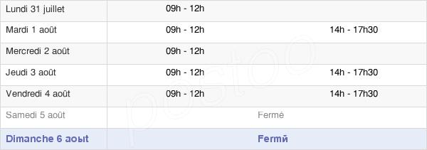 horaires d'ouverture de la Mairie De Roudouallec