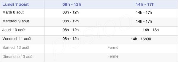 horaires d'ouverture de la Mairie De Surzur