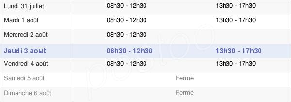 horaires d'ouverture de la Mairie De Saint-Caradec-Trégomel