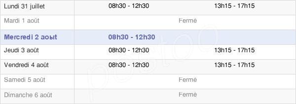 horaires d'ouverture de la Mairie De Saint-Léry
